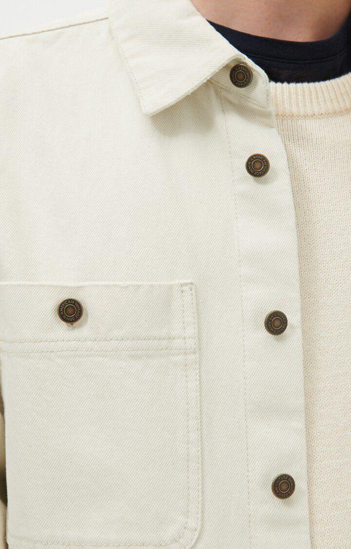 Men's shirt Datcity, ECRU, hi-res-model